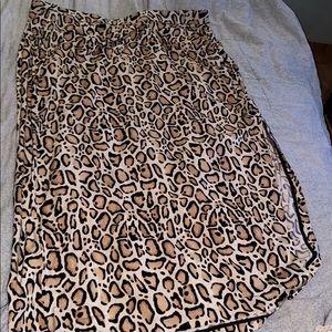 Lane Bryant leopard print skirt